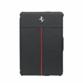 CG Mobile Ferrari Leather Folio Case California Collection Black/Red for iPad mini (FECFFCMPBL)